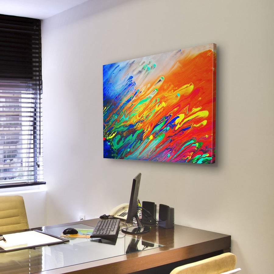 Colorful Abstract Acrylic Painting Canvas Panel Painting Tiaracle