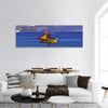 Colorful Boat In Water Panoramic Canvas Wall Art 1 Piece / Small Tiaracle