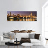 Colorful Chicago And Lake Michigan Panoramic Canvas Wall Art Tiaracle