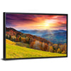 Colorful Mountain At Sunset Canvas Wall Art-Tiaracle