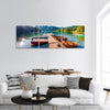 Colorful Summer View Of Bohinj Lake Slovenia Panoramic Canvas Wall Art 3 Piece / Small Tiaracle