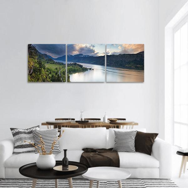 Columbia River Gorge Panoramic Canvas Wall Art 1 Piece / Small Tiaracle