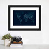 Communications Network Map Multi Panel Canvas Wall Art-Tiaracle