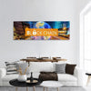 Concept Of Blockchain Panoramic Canvas Wall Art 1 Piece / Small Tiaracle