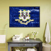Connecticut Flag Canvas Wall Art