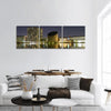 Copenhagen City At Night Panoramic Canvas Wall Art 3 Piece / Small Tiaracle