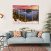 Crater Lake At Sunset Canvas Wall Art-4 Horizontal-Small-Gallery Wrap-Tiaracle