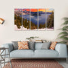 Crater Lake At Sunset Canvas Wall Art-5 Horizontal-Small-Gallery Wrap-Tiaracle