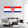 Croatia Flag Panoramic Canvas Wall Art Tiaracle