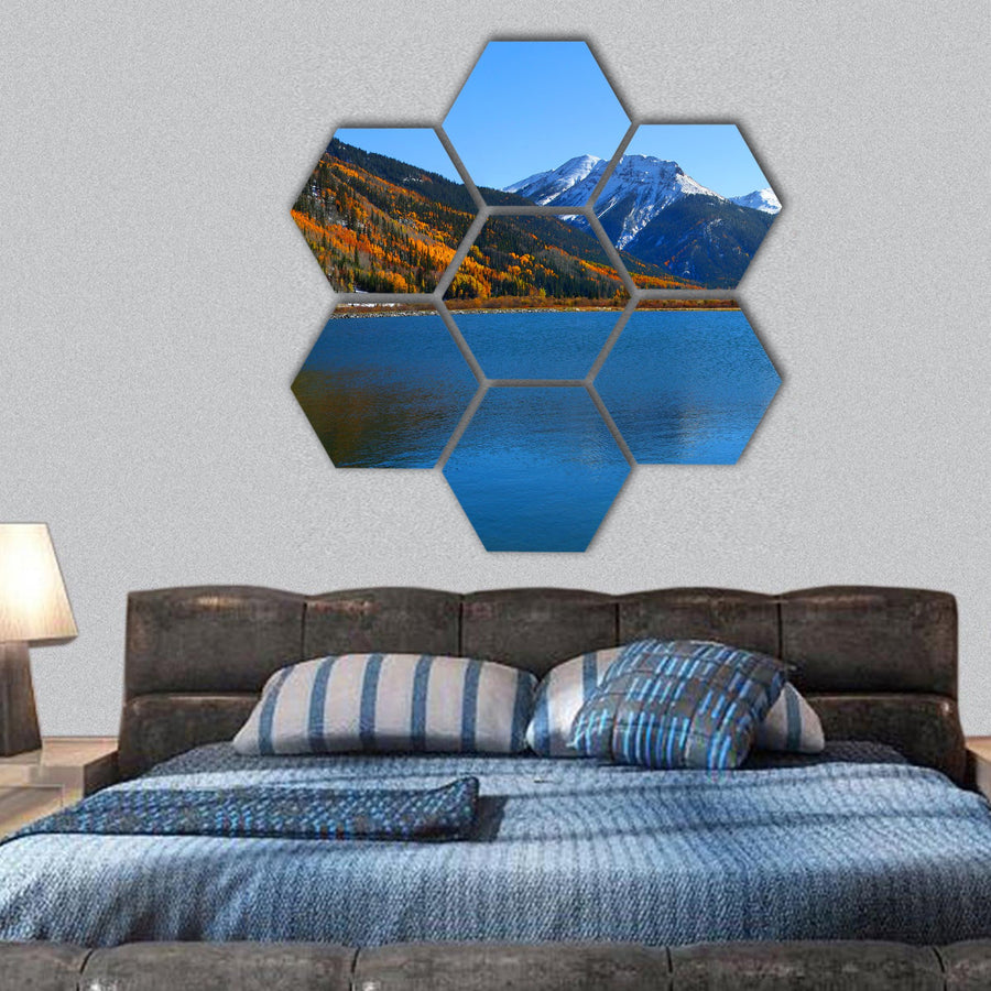 Crystal Lake, Colorado Hexagonal Canvas Wall Art-1 Hexa-Small-Gallery Wrap-Tiaracle