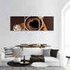 A Cup Of Coffee Panoramic Canvas Wall Art 3 Piece / Small Tiaracle