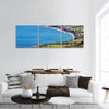 Cyprus Sea View Panoramic Canvas Wall Art 3 Piece / Small Tiaracle