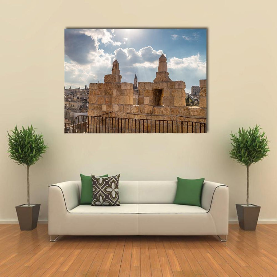 The Damascus Gate In Jerusalem Multi Panel Canvas Wall Art 4 Pieces / Medium / Canvas Tiaracle