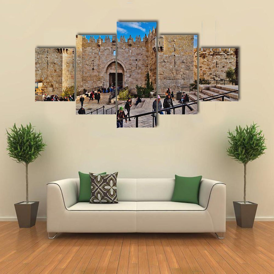 Damascus Gate Nord Entrance Multi Panel Canvas Wall Art 3 Pieces / Medium / Canvas Tiaracle