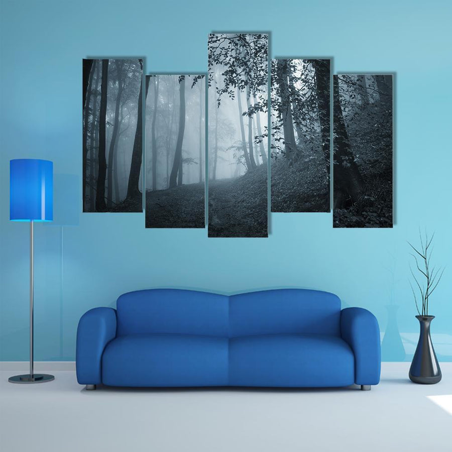Deep Jungle Horror Place Multi Panel Canvas Wall Art 5 Pieces(B) / Medium / Canvas Tiaracle
