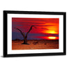 Dead Tree In Desert Multi Panel Canvas Wall Art-Tiaracle