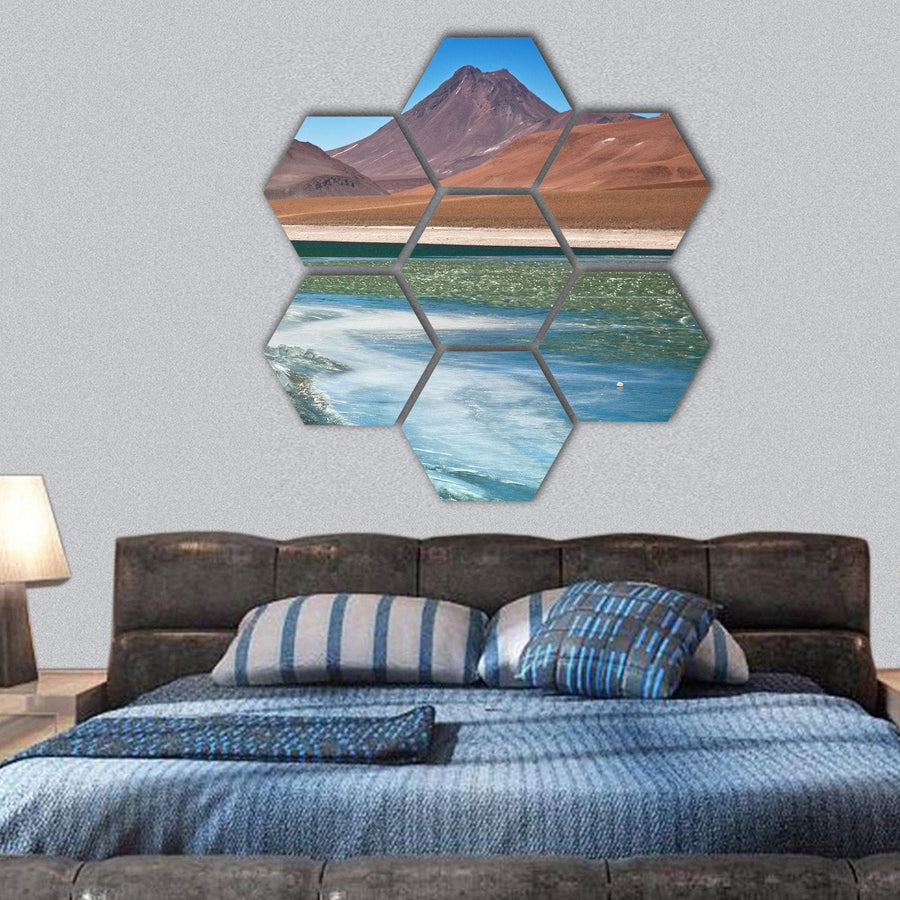 Diamond Lagoon In Atacama Desert In Chile Hexagonal Canvas Wall Art 1 Hexa / Small / Gallery Wrap Tiaracle