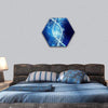 DNA Molecule In Crystal Blue Water Hexagonal Canvas Wall Art 1 Hexa / Small / Gallery Wrap Tiaracle