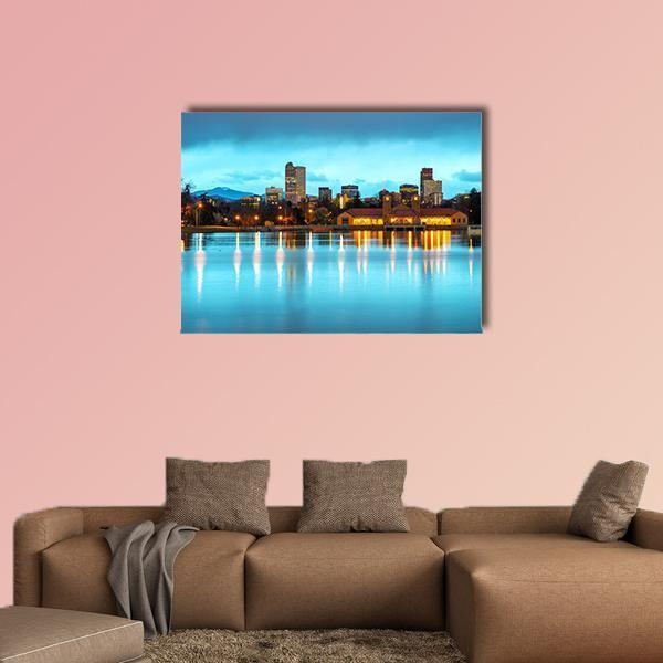 Downtown Denver At Morning Multi Panel Canvas Wall Art 5 Pieces(B) / Medium / Canvas Tiaracle