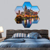 Downtown Nashville City Skyline Hexagonal Canvas Wall Art 7 Hexa / Small / Gallery Wrap Tiaracle
