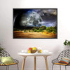 Dreamscape With Full Moon Multi Panel Canvas Wall Art-Tiaracle