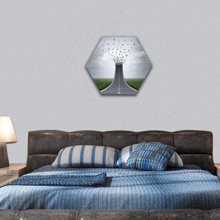 Driving Freedom Concept Hexagonal Canvas Wall Art 7 Hexa / Small / Gallery Wrap Tiaracle