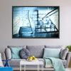 Dropping Liquid To Test Tube Multi Panel Canvas Wall Art-Tiaracle