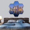 Dubai City With Reflection In Dubai Canal Hexagonal Canvas Wall Art 7 Hexa / Small / Gallery Wrap Tiaracle