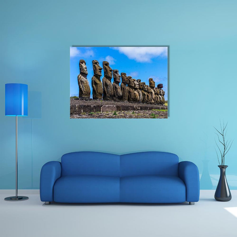 Easter Island, Chile Canvas Wall Art-5 Horizontal-Small-Gallery Wrap-Tiaracle