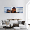 Eilean Donan Castle In Scotland Panoramic Canvas Wall Art 3 Piece / Small Tiaracle
