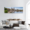 Elbe River Embankment In Dresden Panoramic Canvas Wall Art 1 Piece / Small Tiaracle