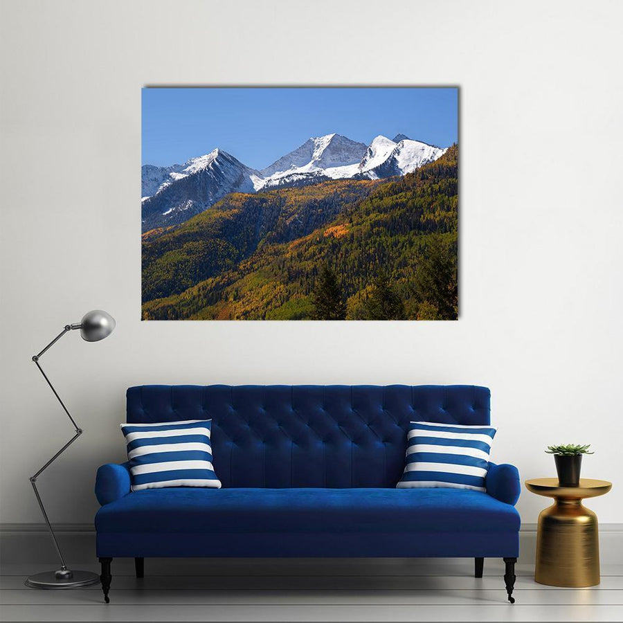 Elk Mountains Colorado In Fall Canvas Panel Painting Tiaracle