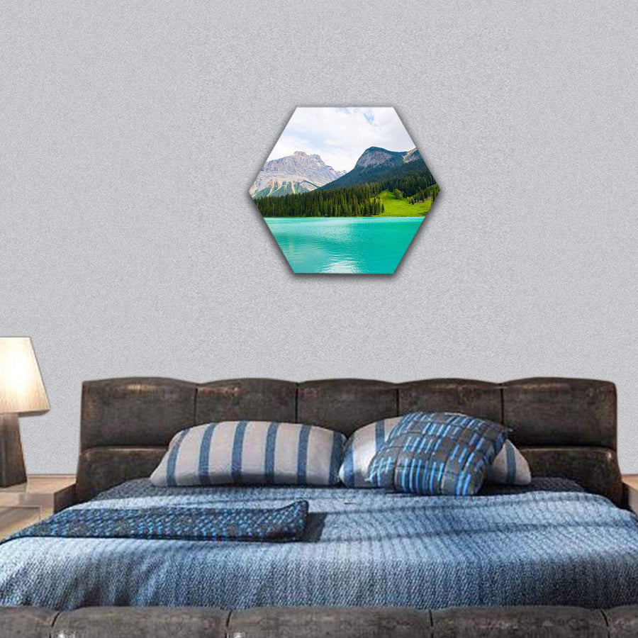 Emerald Lake Hexagonal Canvas Wall Art 7 Hexa / Small / Gallery Wrap Tiaracle