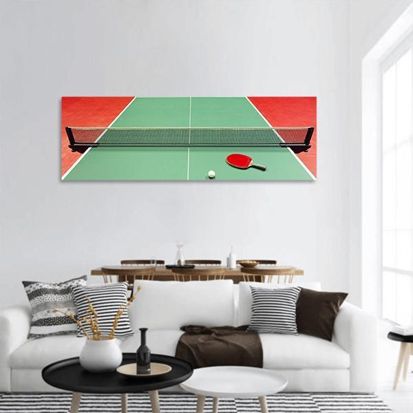 Equipment For Table Tennis Panoramic Canvas Wall Art 3 Piece / Small Tiaracle