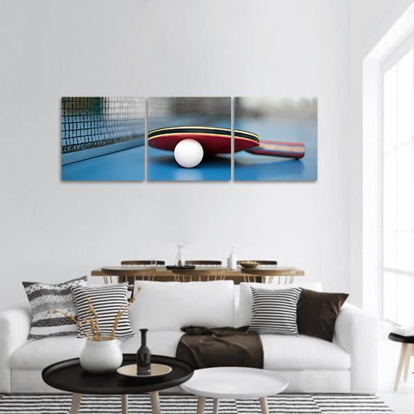 Equipment Of Table Tennis Panoramic Canvas Wall Art Tiaracle