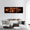 Eruption Of Volcano Erta Ale In Ethiopia Panoramic Canvas Wall Art Tiaracle