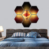 Ethereum Symbols Concept Hexagonal Canvas Wall Art 7 Hexa / Small / Gallery Wrap Tiaracle