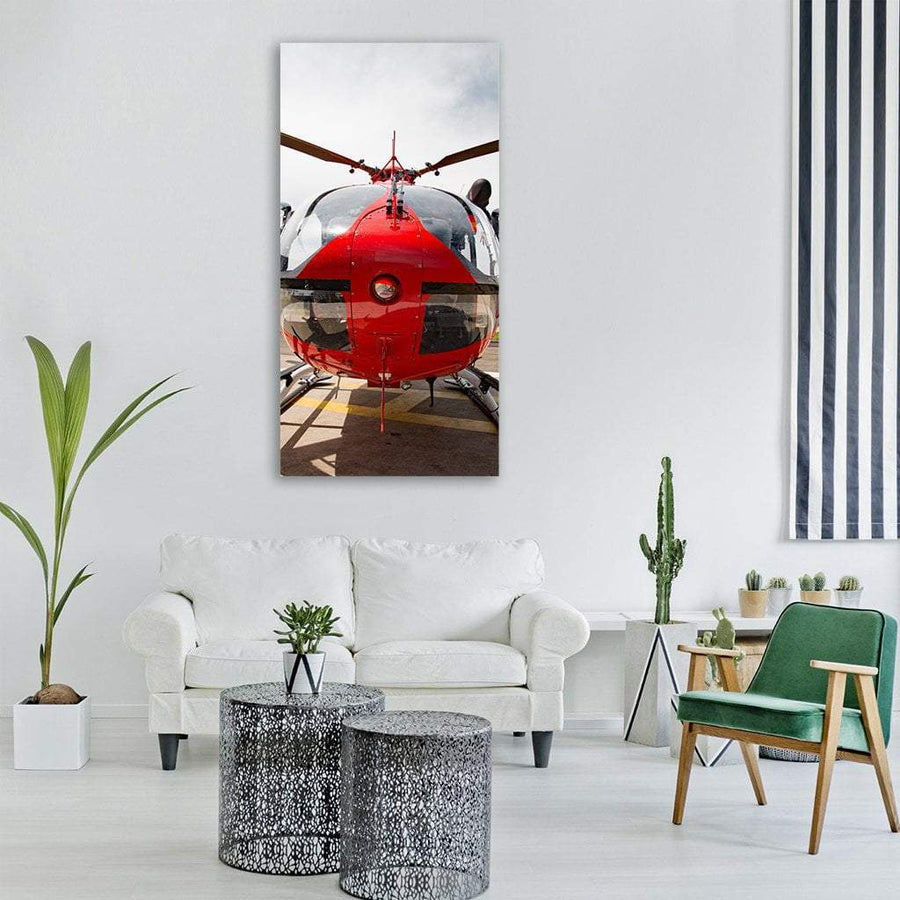 Eurocopter Close-Up Vertical Canvas Wall Art 3 Vertical / Small / Gallery Wrap Tiaracle