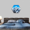 Everest Mountain Peak Hexagonal Canvas Wall Art-1 Hexa-Small-Gallery Wrap-Tiaracle