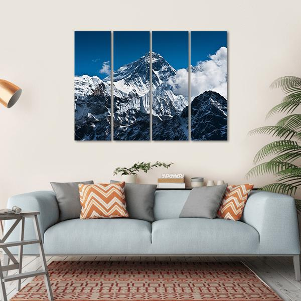 Everest Mountain Peak Multi Panel Canvas Wall Art 1 Piece / Small / Gallery Wrap Tiaracle