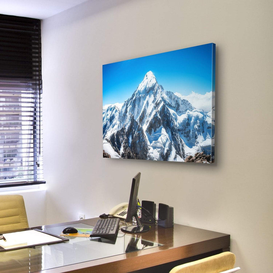 Everest Mountain Peak Canvas Panel Painting Tiaracle
