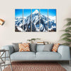 Everest Mountain Peak Multi Panel Canvas Wall Art 5 Horizontal / Small / Gallery Wrap Tiaracle