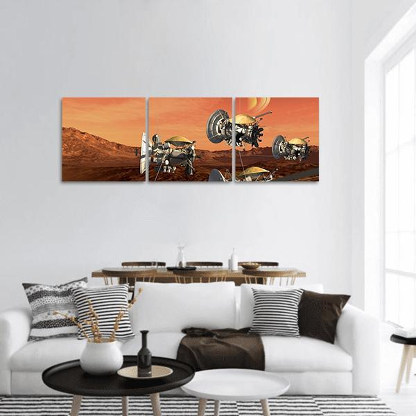 Exploration Of Space Panoramic Canvas Wall Art 1 Piece / Small Tiaracle