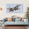 F-16 Take Off Multi Panel Canvas Wall Art 5 Horizontal / Small / Gallery Wrap Tiaracle