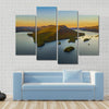 Fall Foliage By Lake George At Sunset Multi Panel Canvas Wall Art 4 Pop / Small / Gallery Wrap Tiaracle