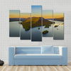 Fall Foliage By Lake George At Sunset Multi Panel Canvas Wall Art 5 Pop / Small / Gallery Wrap Tiaracle