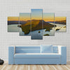Fall Foliage By Lake George At Sunset Multi Panel Canvas Wall Art 5 Star / Small / Gallery Wrap Tiaracle