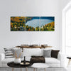 Famous Bohinj Lake In Slovenia Panoramic Canvas Wall Art 3 Piece / Small Tiaracle