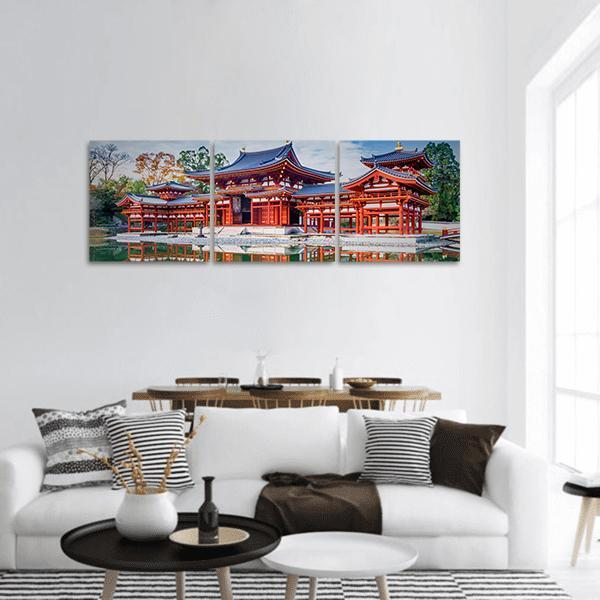 Famous Buddhist Temple In Japan Panoramic Canvas Wall Art Tiaracle