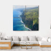 Famous Coastline Of The Big Island Multi Panel Canvas Wall Art 4 Square / Small / Gallery Wrap Tiaracle